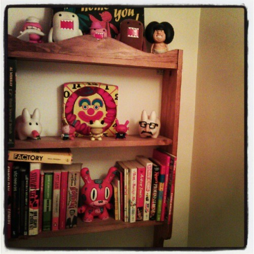 Toilet shelf, spot the book based joke!  (Taken with instagram)