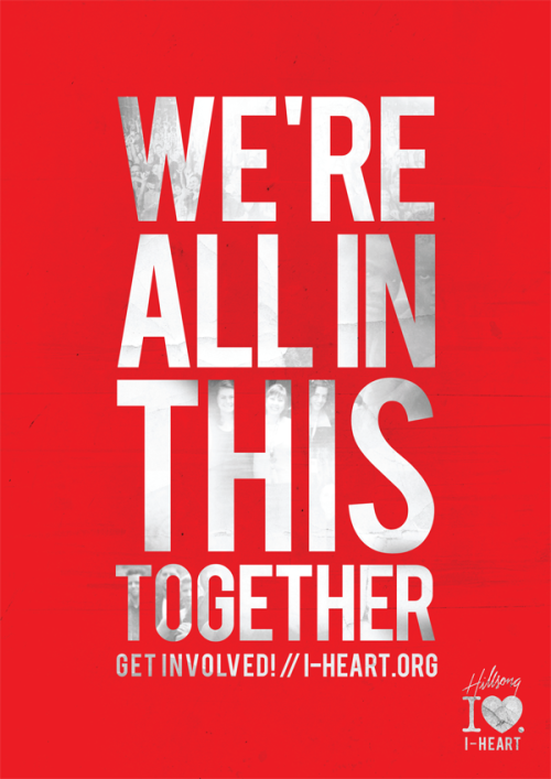 hillsongs:  Promotional Poster for the I-Heart Revolution campaign.