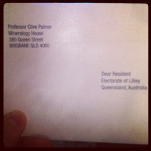 Opening this envelope should be a barrel of laughs. (Taken with instagram)