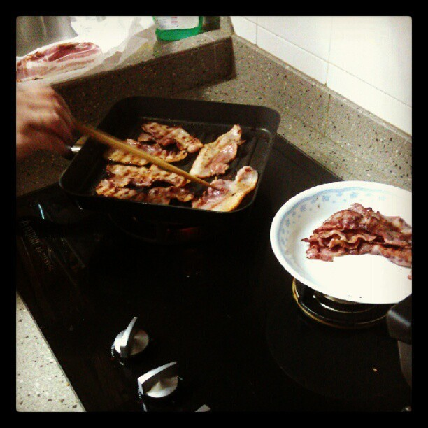 I gave in the fight. Bacon for dinner. #baconisgold (Taken with instagram)