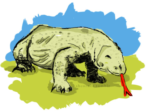 30 days drawing challenge, day #2 :D  2. Favorite animal. it's the Komodo Dragon! i also like pandas ^-^