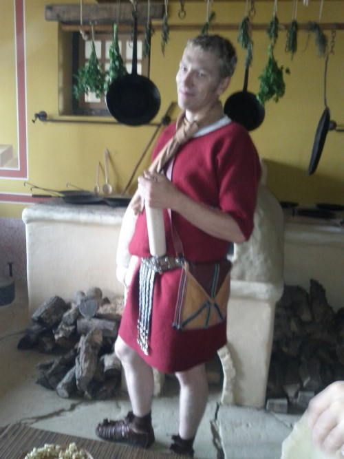 Helpful legionary in the kitchen at Carnuntum.