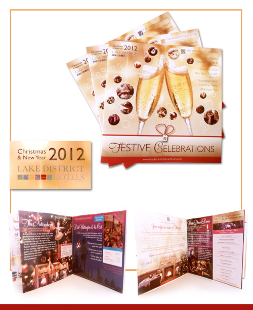 Festive Celebrations 2012 - Lake District Hotels Brochures 6 Brochures to compliment the Festive Breaks 2012/13, and to showcase individual events and party nights which will be going on over the festive season. www.lakedistricthotels.net