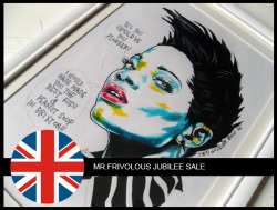 "To celebrate the Queens Diamond Jubilee, Mr. Frivolous (yep thats me) is having a MASSIVE discount sale on some original artworks. The sale starts from today until the 9th of June. So clicking because time ticking!!! Check the link below for more info on ""I SHOULD HAVE ASKED FOR HER NUMBER"":CLICK ME!!!!"