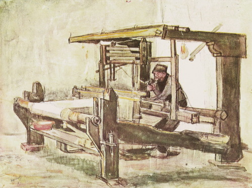 V. van Gogh, The Weaver, watercolor; 1884
