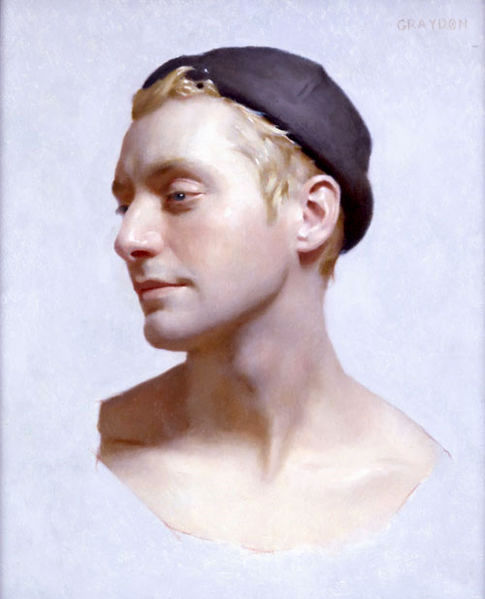 "malebeautyinart:  Sean, 15""x18"",oil on panel, by Graydon Parrish 2009"