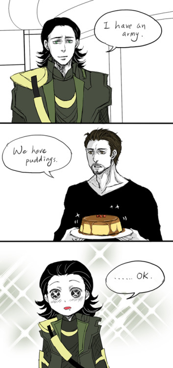 daily-dose-of-loki:  all he needs is pudding