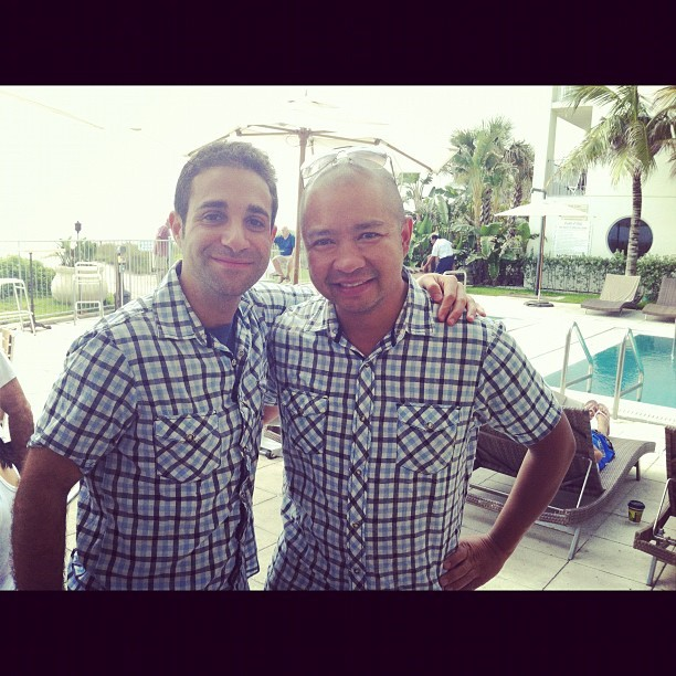 Me and the groom @KevsMusings. Rocking same exact shirt. He's getting married today!! #silverjohn  (Taken with Instagram at Costa d'Este)