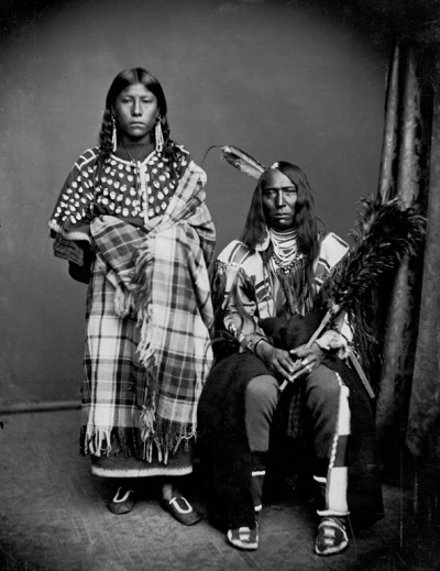Bear Wolf and wife Stays-With-Horses - Crow 1873