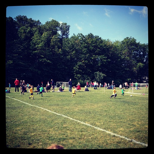 Nephew's soccer game.  Lisa and I are seriously out of our comfort zone (Taken with instagram)