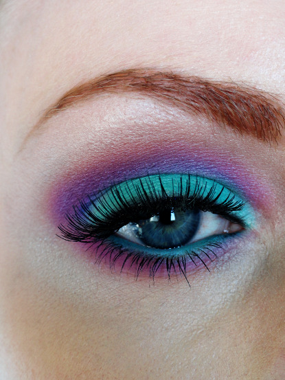 makeitallup:  makeupftw: Mint, purples and pinks http://rockettqueen.tumblr.com http://rockettqueen.tumblr.com