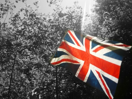 naomigracee:  Being patriotic for the Jubilee on our expedition. Sorry, I edited this in a rush so the colour is not very good.