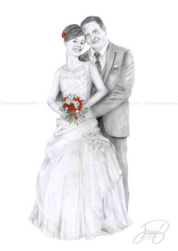 Retrato para convite de casamento ;)*Portrait Commission for wedding invitation ;)