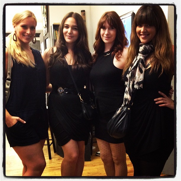 "truthandfashion:  The ""Shop for Good"" event by Haute Trotter with Models Lizzie Miller, Heather Hazzan, Meredith Beardmore, and Denise Bidot."