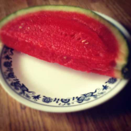 Watermelons mean that summer's coming. 💜