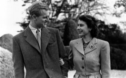 Prince Phillip and Princess Elizabeth (who would become Queen Elizabeth II) on their Honeymoon in 1947.