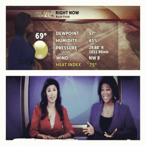 Check out my homegirl @ShaneenWxNBC26 the new weather girl of #NBC26 in Augusta.. TeamArtAboveReality! #News #Weather #Station #Georgia #Augusta #Entrepreneur #Journalism #TV #artabovereality #artistic #picstitch #reality #inspire #expression #reality #teamwork #primetime  (Taken with instagram)
