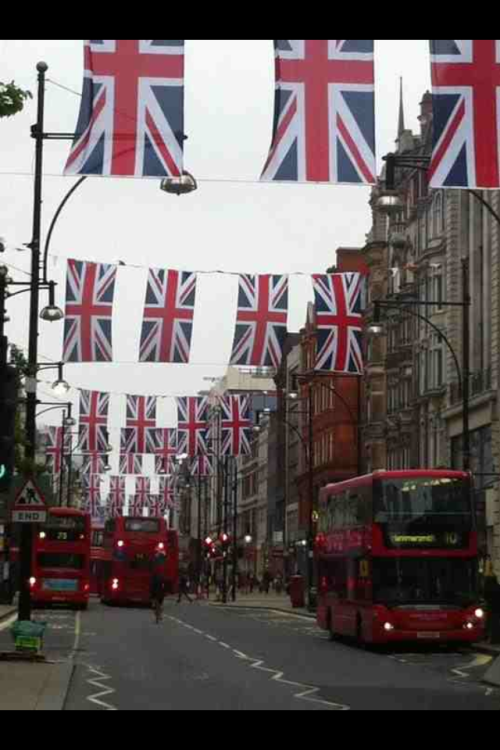 London in Jubilant mood