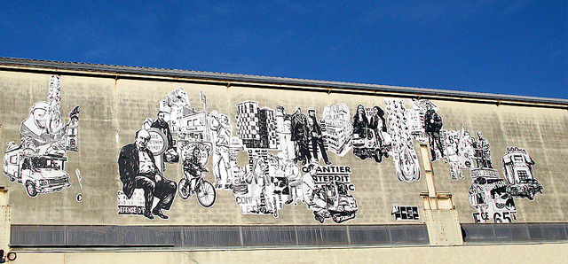 Pasted paper [Nantes, France] by biphop on Flickr.