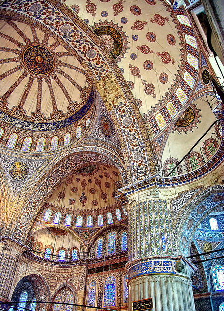 Blue Mosque (Sultanahmet), Istanbul, Islamic Architecture, Iznik tiles by iamsufi on Flickr.