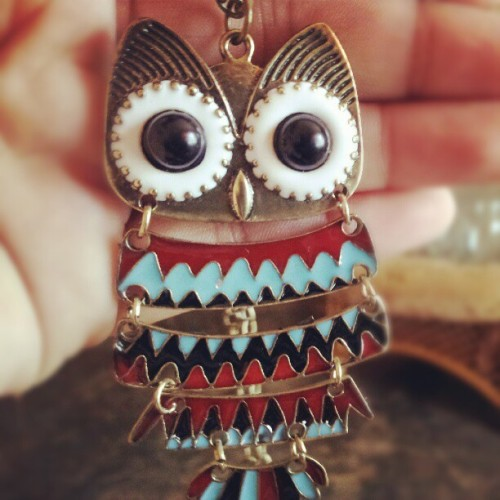 fantasyandrealityoverlaps:  #owl #colors #fashion #hipster #girls (Tomada con instagram)