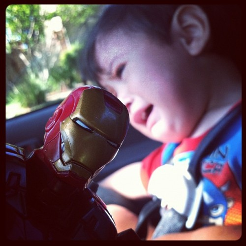 #ironman vs booboo #avengers #ironman3 (Taken with instagram)