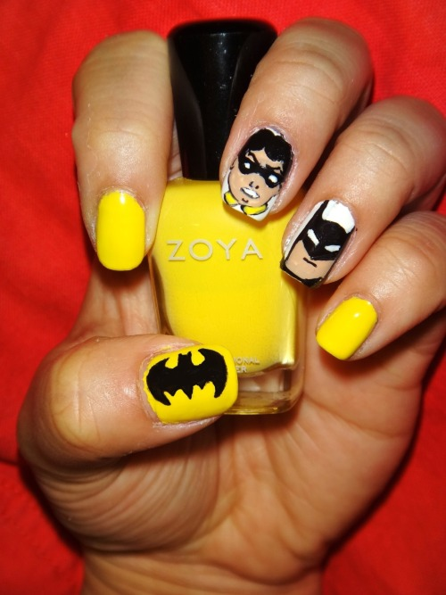 Batman and Robin using Zoya's Creamy!Enjoy! :)