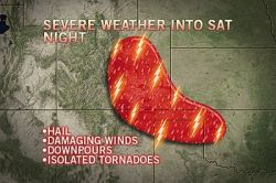 Strong Storms Once More for the Southern Plains  Strong storms will manage to fire across parts of Texas once more today, and will expand their way into parts of Colorado and Oklahoma as well.