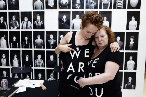 "Nan Goldin is part of the ""We"" that are you.. #endofthenight"