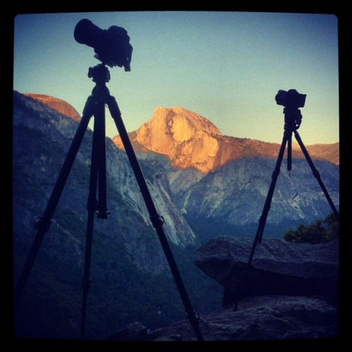 Tonight's #Yosemite Shoot Setup (Taken with instagram)