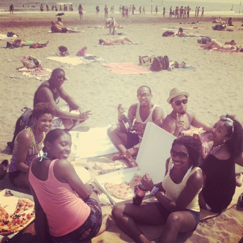 Best beach day. ever.  majormoves:  Lido Island today with the homies #Venice #Italy (Taken with instagram)