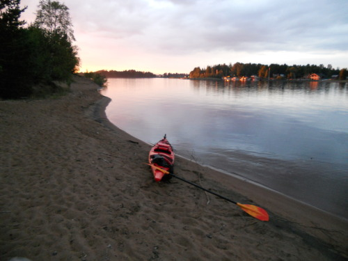 Kayaking in summer 2010