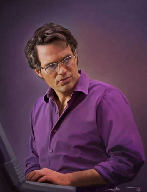 juliedillon:  euclase:  Bruce, drawn in PS. #purple everywhere  ♥ ♥ ♥