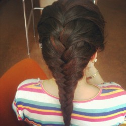 the braid i did on jackie :)