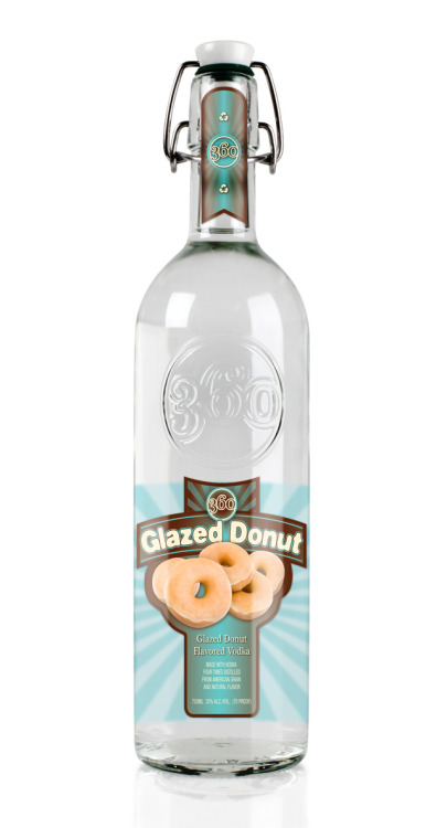 motherjones:  laughingsquid:  Glazed Donut Vodka  Keep on keepin' on, America.