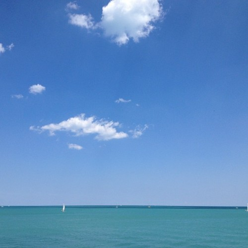 The lake. #nofilter (Taken with Instagram at Chicago Yacht Club)