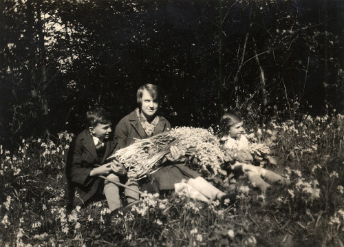 melancholiques:  picking bluebells in may, 1927
