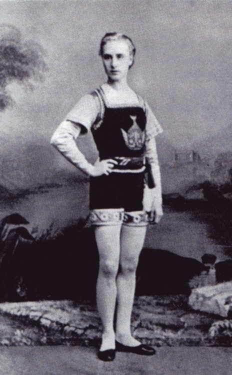 Pavel Gerdt in Le Poisson d'or, St. Petersburg, Russia, 1867.