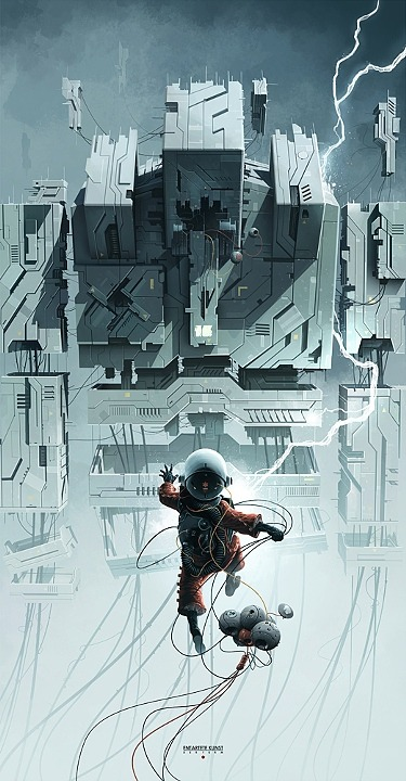 "daftcherub:  ""The Tower"" by Derek Stenning"
