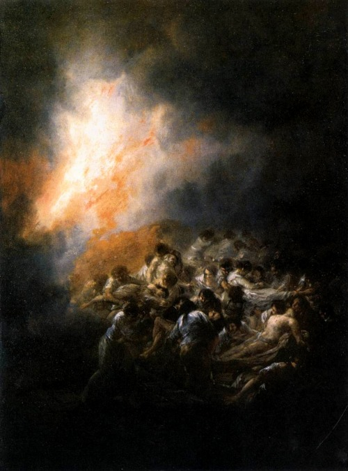 publicdomainthing:  The Fire Francisco de Goya 1793 Wikipedia Commons