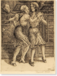 "knowhomo:  LGBTQ* Artist You Should Know Reginald Marsh -Illustrations/art/etchings part of the series ""Chop Suey Dancers"" -Late 1920s -Depicted couples of the same sex dancing together in New York nightspots -Many characters intentionally created to be ambiguous (Marsh wanted audience to ask if dancers were assumed gender, in drag, or androgynous)"