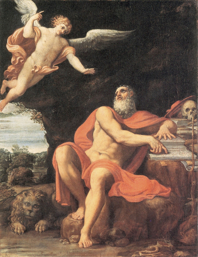 necspenecmetu:  Domenico Zampieri (Domenichino), The Vision of Saint Jerome, c. 1603