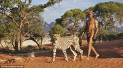 Cheetah Whisperer!!