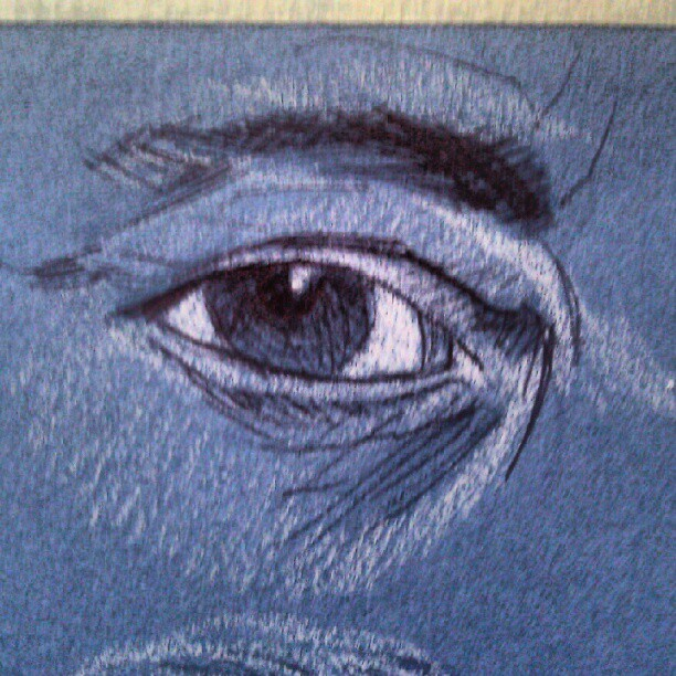 #eyeball #eye #art #illustration #drawing #sketch #figure #pen #ink #photooftheday #picoftheday #drawingoftheday #museum #gettycenter  #tonepaper (Taken with instagram)