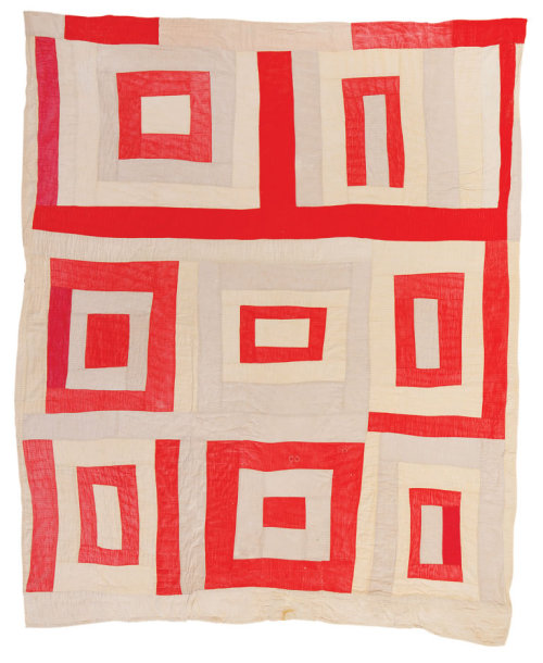 "jbe200quilts:  Linda Pettway, born 1929, ""Housetop"" — eight-block variation, ca. 1975, corduroy, 86 x 71 inches. q032-08.jpg"