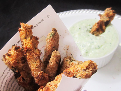 Eggplant Fries with Tzatziki Sauce- Food, Pleasure, and Health