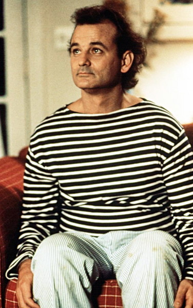Bill Murray in stripes.