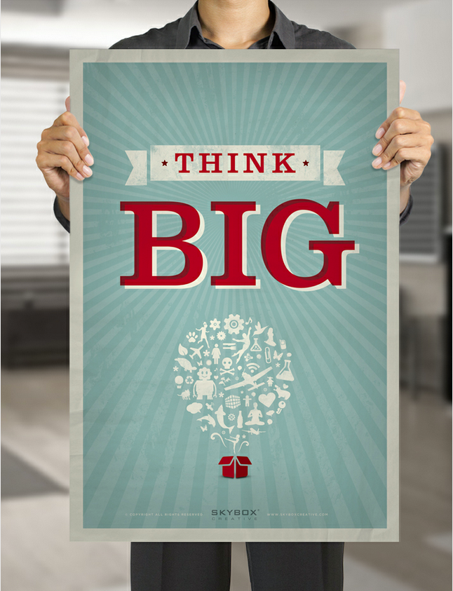 betype:  Think Big  Thanks for sharing our poster!! 552 Notes, not bad :)