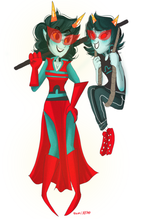 zamii070:  Terezi and Redglare.~ (3/12) meh