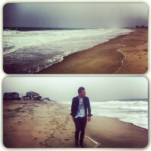 beach with @lukedent in the freezing rain? Why not. (Taken with instagram)